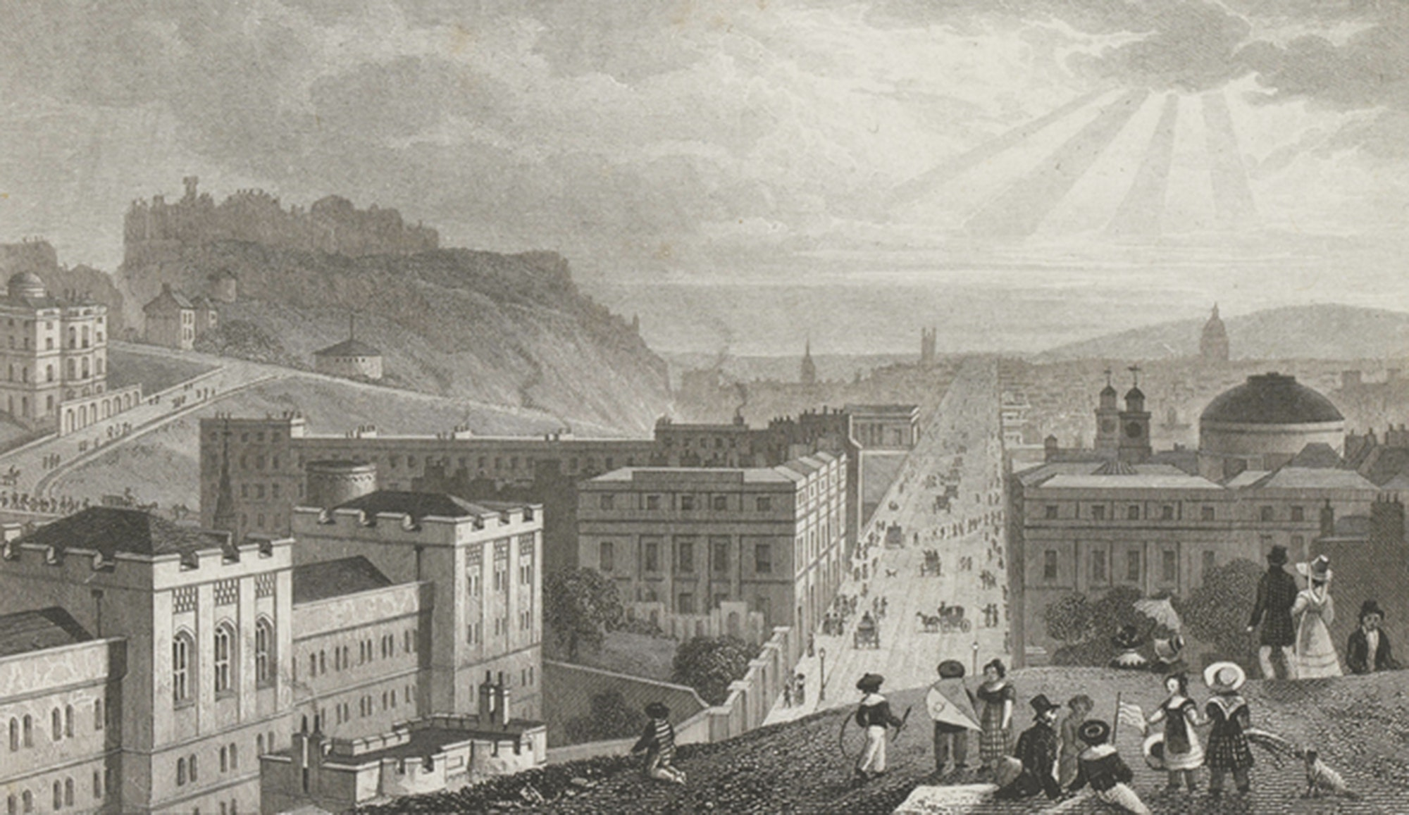 Edinburgh From Calton Hill, Thomas Shepherd, 1829, c/o City of Edinburgh Council – Museums and Galleries www.capitalcollections.org.uk