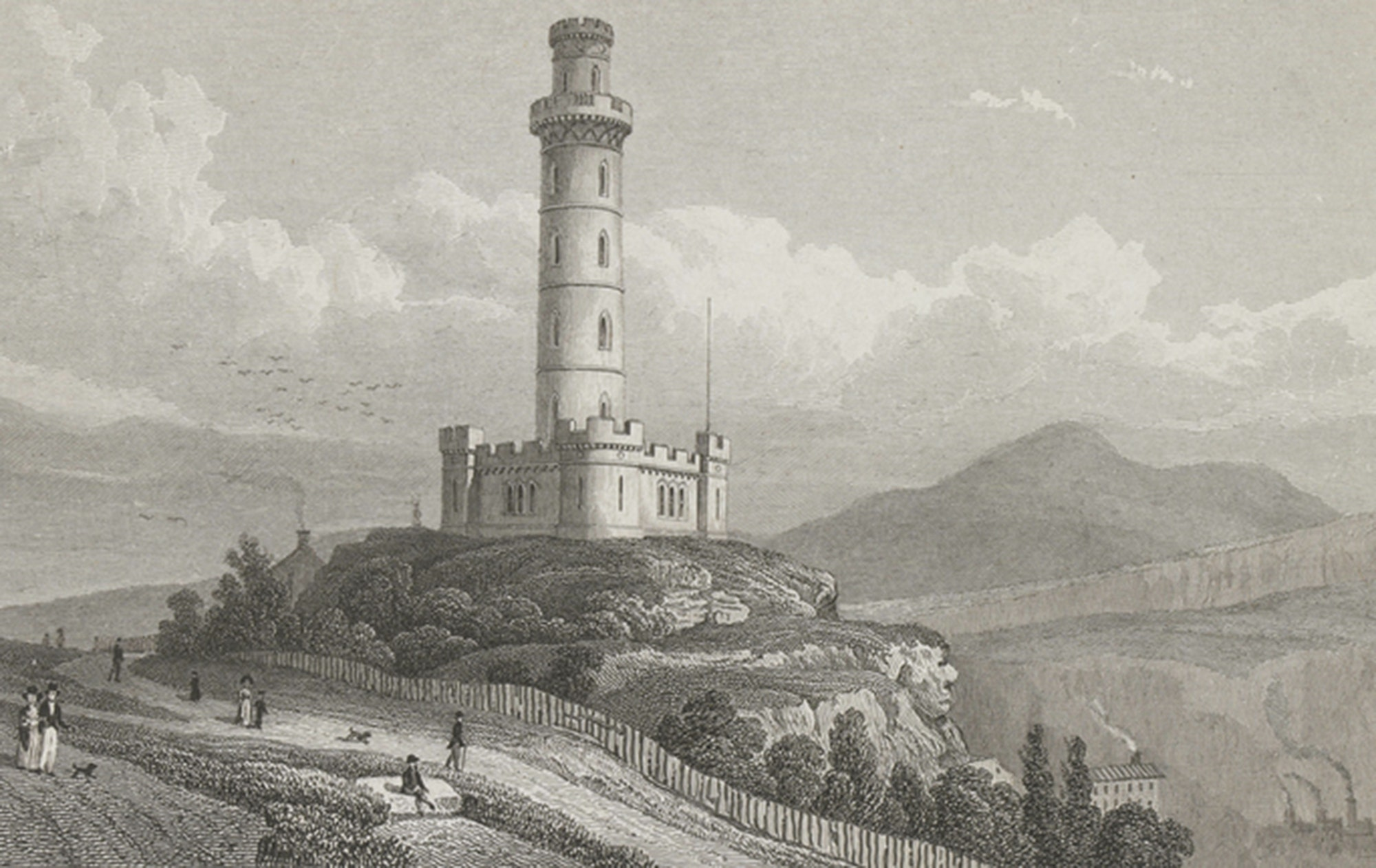 Nelson's Monument, Calton Hill, Thomas Shepherd, 1829, c/o City of Edinburgh Council – Museums and Galleries www.capitalcollections.org.uk