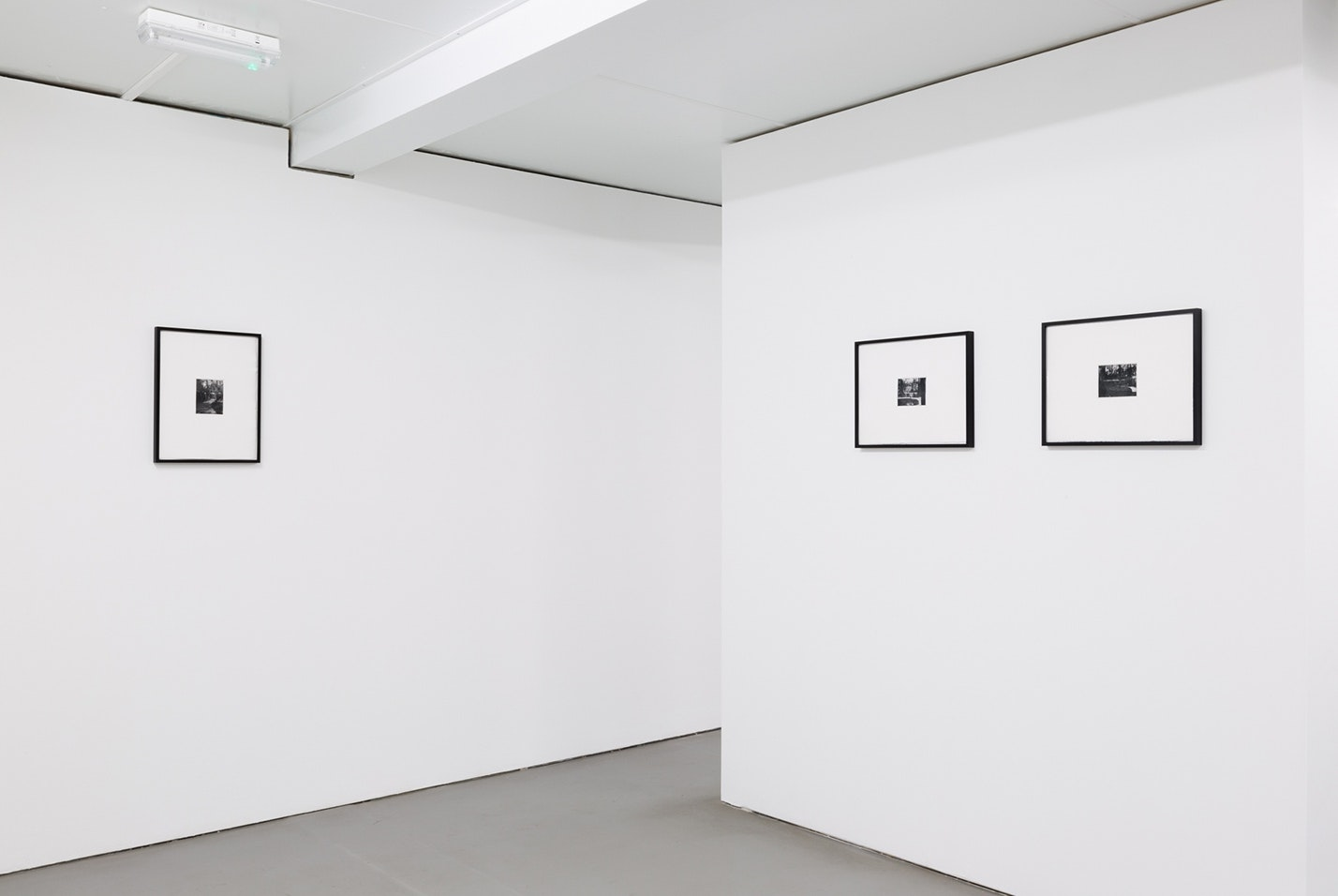 *110 rue du Bac*, 3 photopolymer prints on paper, framed. Photographer and date of creation unknown. Reproduced to scale, by permission of the University of Glasgow Library, Special Collections, 2017. Photo by Tom Nolan.