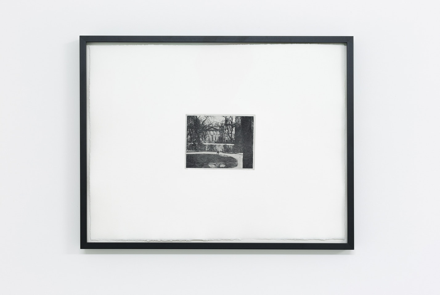 *110 rue du Bac*, photopolymer prints on paper, framed. Photographer and date of creation unknown. Reproduced to scale, by permission of the University of Glasgow Library, Special Collections, 2017. Photo by Tom Nolan.
