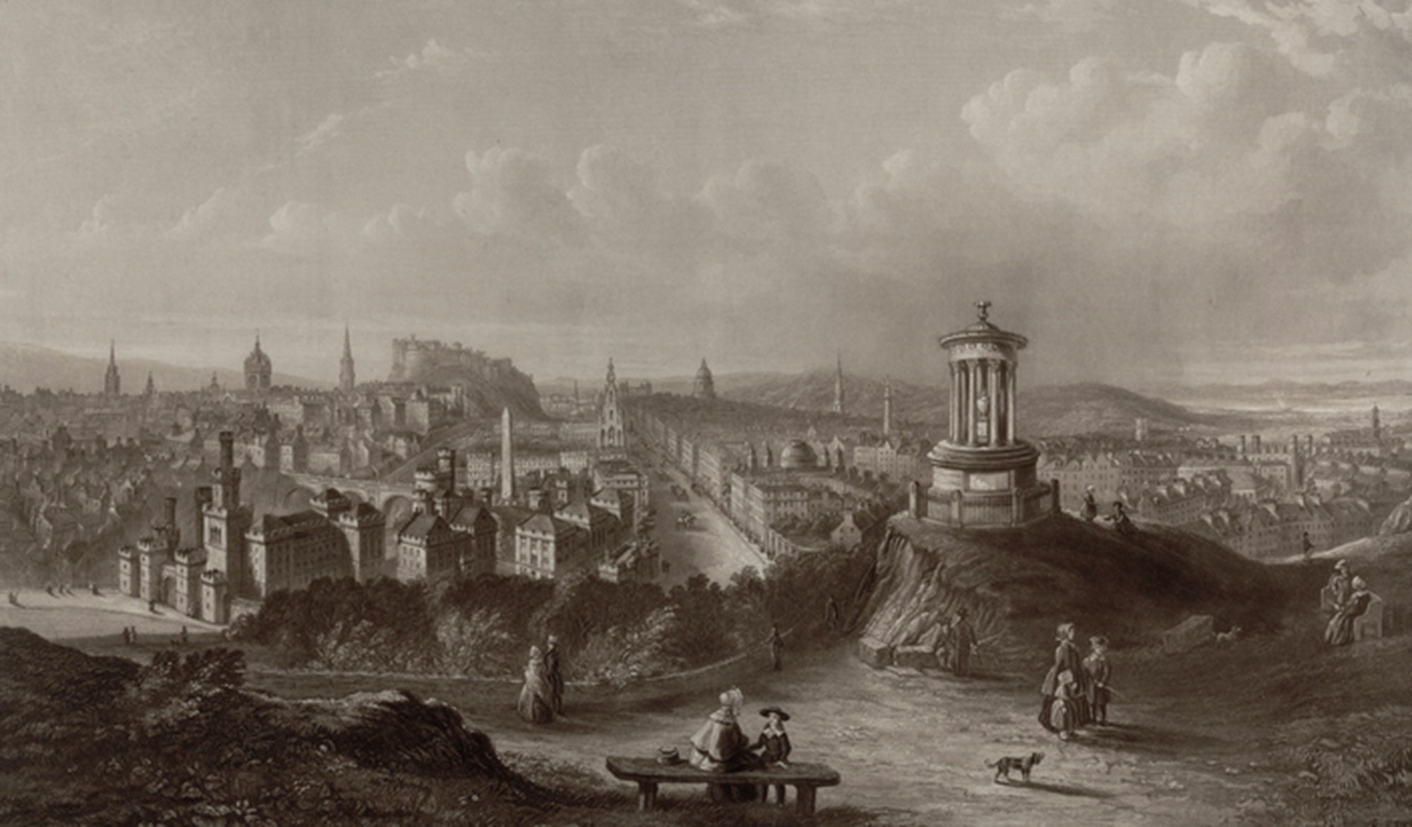 Edinburgh from Calton Hill, H.G. Duguid, 1840, c/o City of Edinburgh Council – Museums and Galleries www.capitalcollections.org.uk