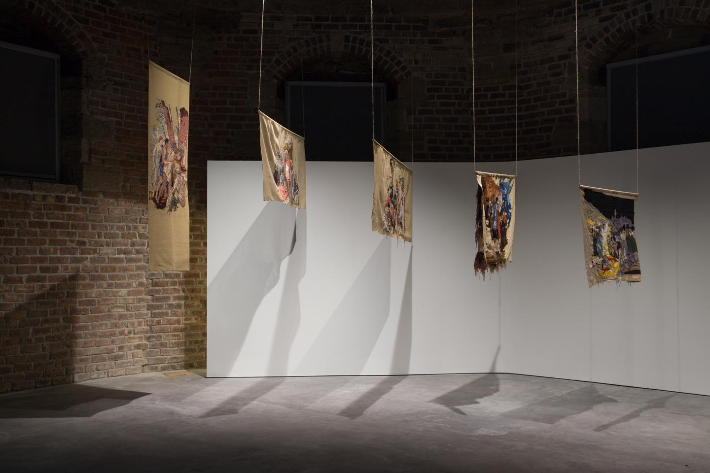 Bertille Bak, *Faire le mur*, installation view, 2013. Photo by Tom Nolan.