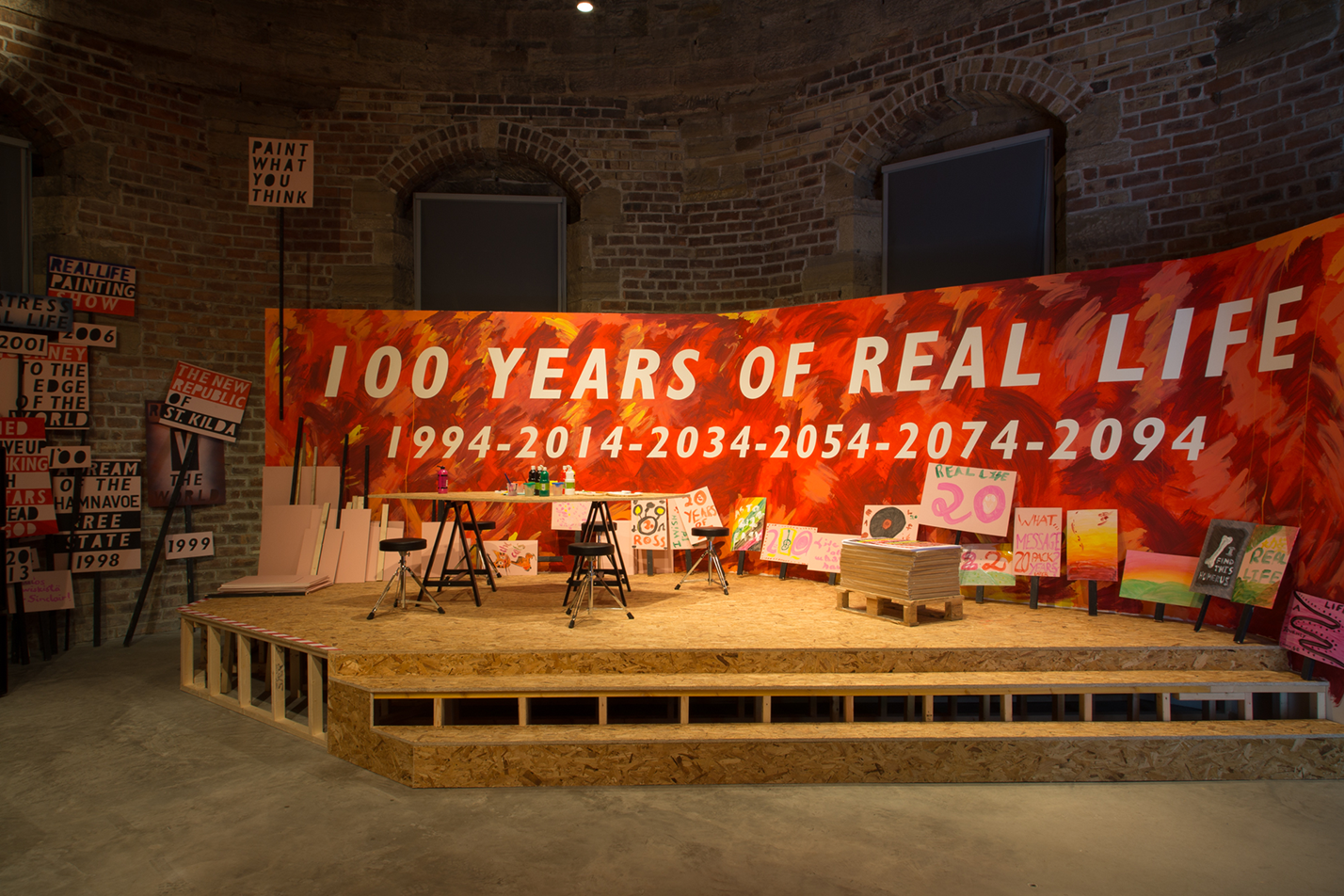 Ross Sinclair, *20 Years of Real Life*, installation view, 2014. Photo by Tom Nolan.